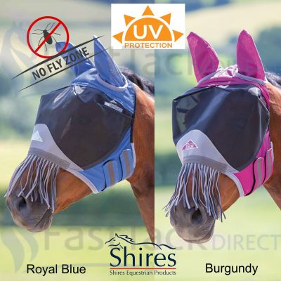 Deluxe Fly Mask with Nose Fringe