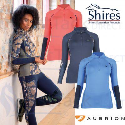 Shires Aubrion Ladies Newbury Long Sleeve Base Layer