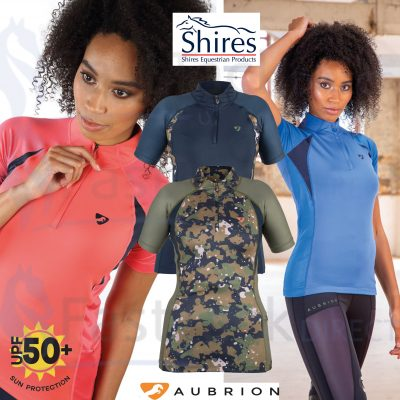 Shires Aubrion Ladies Highgate Short Sleeve Base Layer