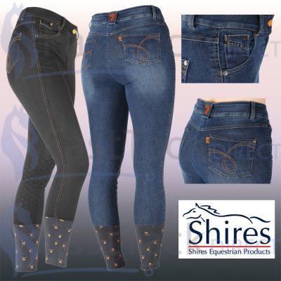 Shires Ladies Aubrion Putney Denim Breeches