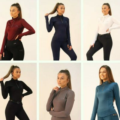 Gallop Long Sleeved Zip Neck Base Layer