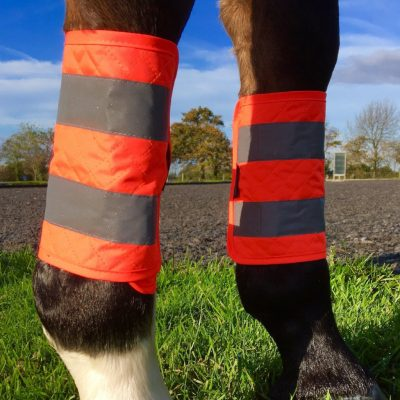 Equisafety Hi Vis Reflective Quilted Leg Boots