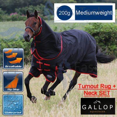 Gallop 200g Medium Weight Turnout Rug & Neck Set