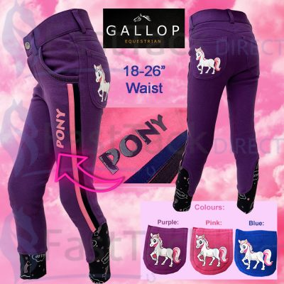 Gallop Childrens Pony Horse Riding Breeches