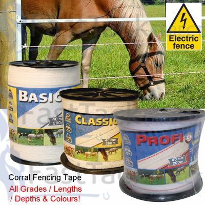 Corral Electric Fencing Tape (All Sizes)