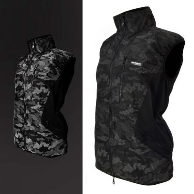 Whitaker Ladies Sydney Camo Reflective Waterproof Gilet