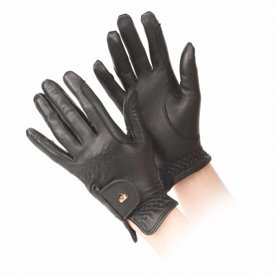 Shires Aubrion Leather Horse Riding Gloves