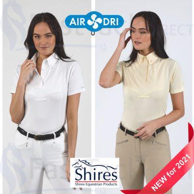 Shires Aubrion Ladies Short Sleeve Tie Shirt