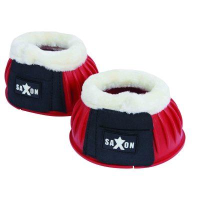 Saxon Fleece Trim Rubber Over Reach Boots