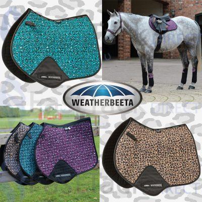 Weatherbeeta Prime Leopard Jump Shaped Saddle Pad