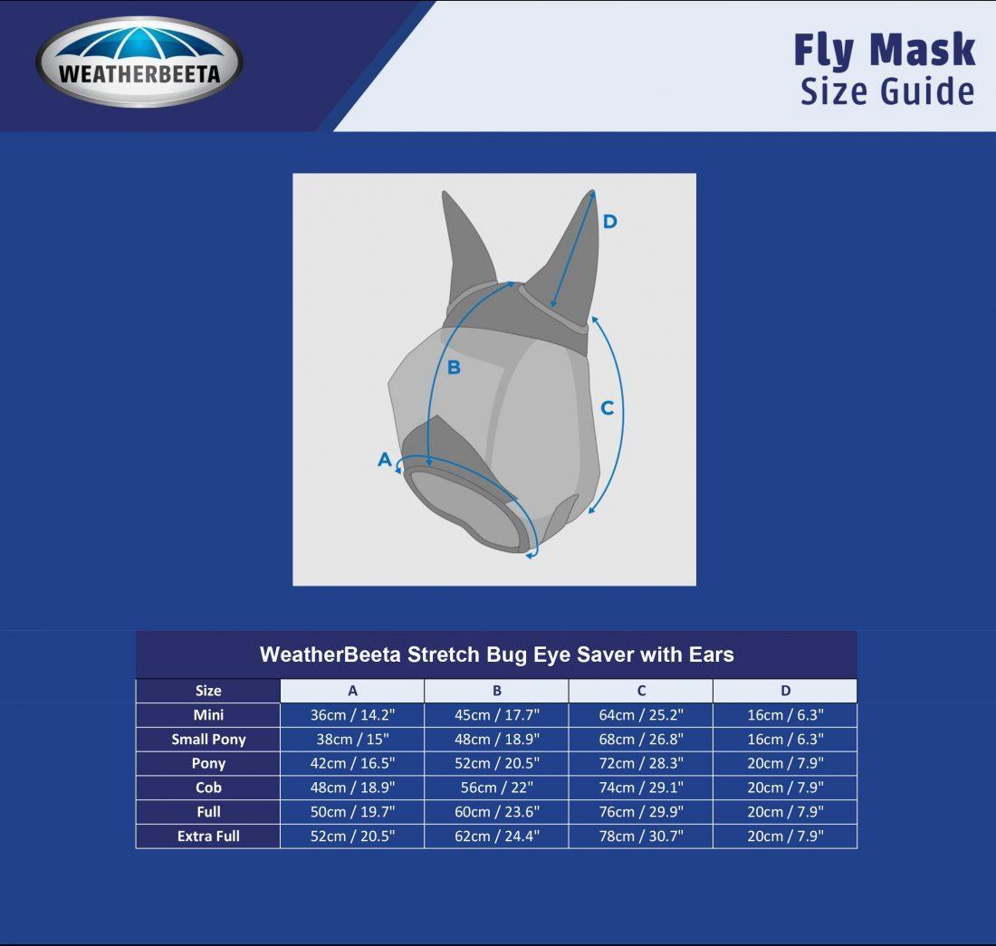 WB Stretch Bug Eye Saver Fly Mask