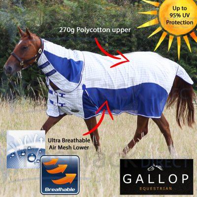 Gallop Air Mesh Combo Neck Summer Sheet Rug