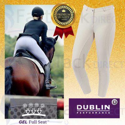 Dublin Ladies Edge Gel Full Seat Breeches