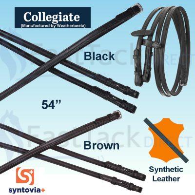Collegiate Syntovia+ Plain Flat Reins