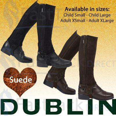 Dublin Suede Half Chaps