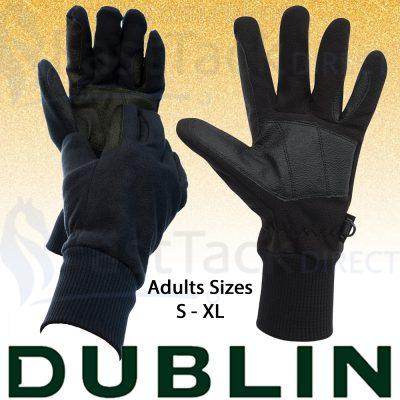 Dublin Everyday Showerproof Polar Fleece Riding Gloves
